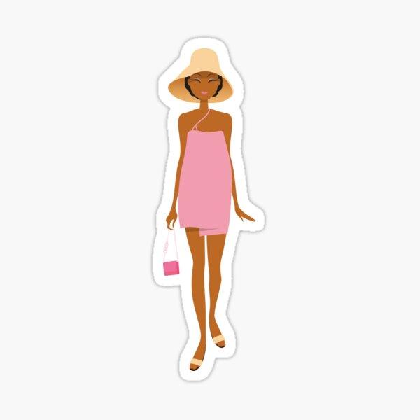 Pink lady in summer Sticker