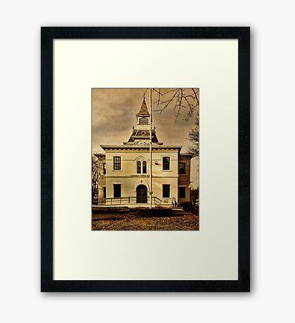 Noah Webster Taught Here Framed Print
