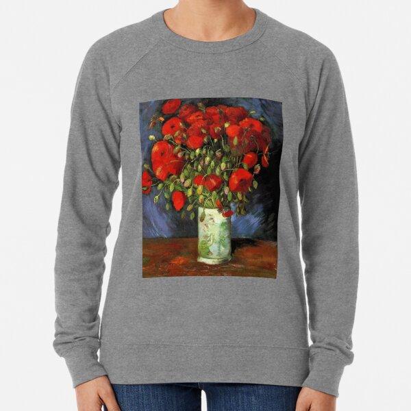 Vase with Red Poppies-Vincent van Gogh Lightweight Sweatshirt