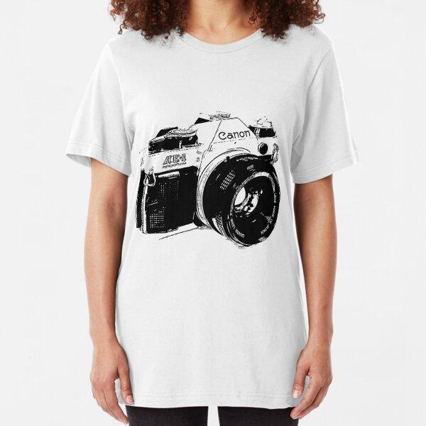 Vintage Canon Camera Slim Fit T-Shirt