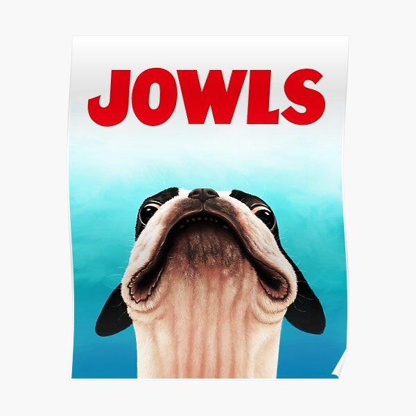 Jowls Boston Terrier poster Poster