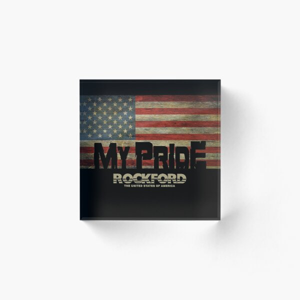 My home city from United States, Illinois, Rockford Acrylic Block