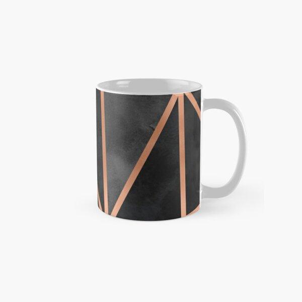 Black & Copper Geo Classic Mug