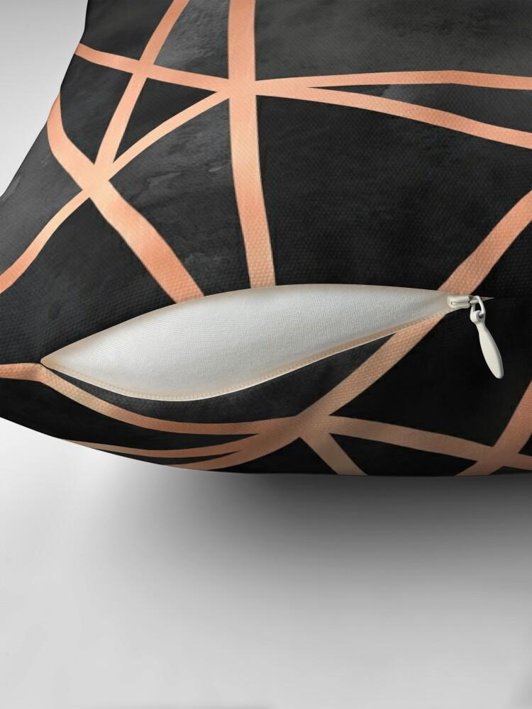 Alternate view of Black & Copper Geo Throw Pillow