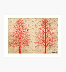 RED CEDARS ARTWORK Art Print