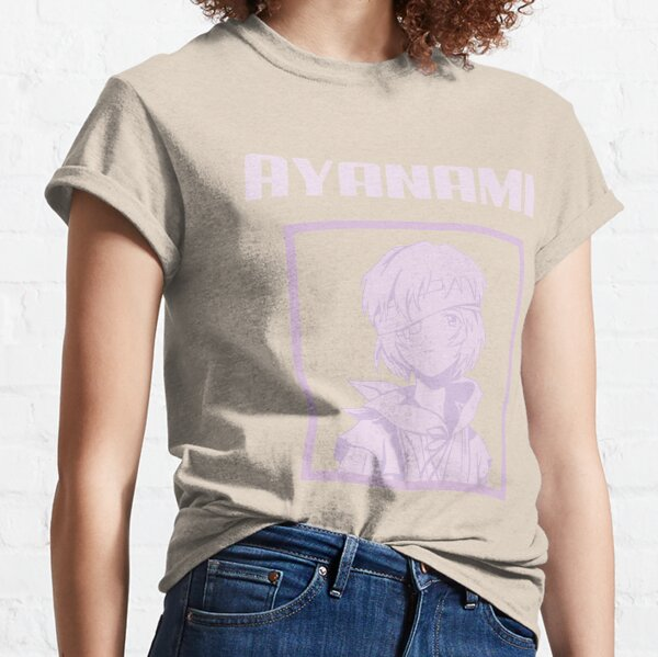 anime girl rose ayanami T-shirt classique
