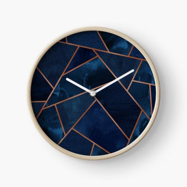 Navy & Copper Geo Clock