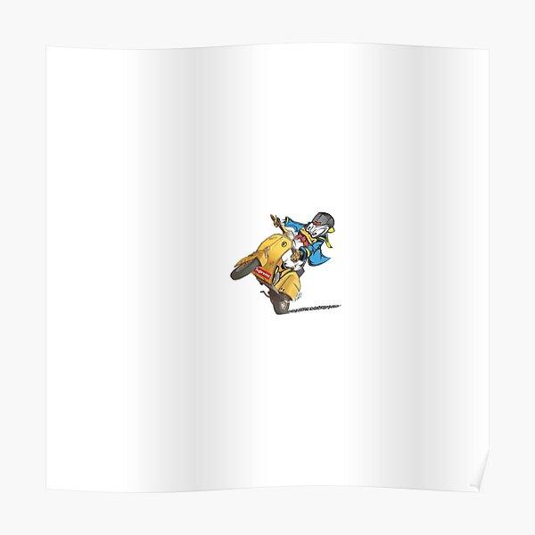 Vespa Donald Duck Poster