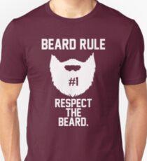 Beard Rule #1 Respect the Beard Unisex T-Shirt