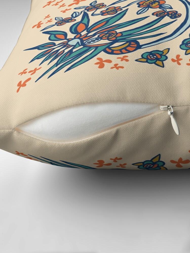 Alternate view of Blue Ridge Paradise Flower Throw Pillow