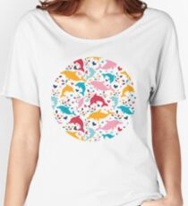 Cute colorful dolphins pattern Women's Relaxed Fit T-Shirt