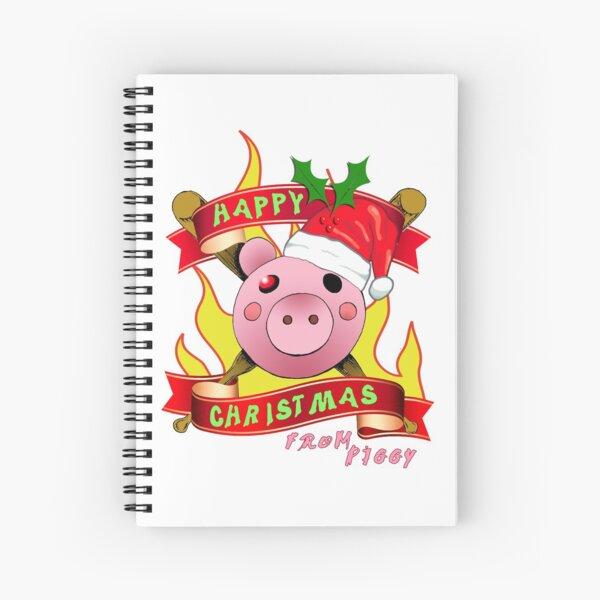 Piggy Roblox Christmas Gamer Gifts Spiral Notebook