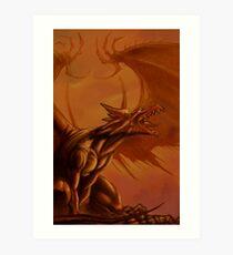 Screaming Dragon by William Kenney Art Print