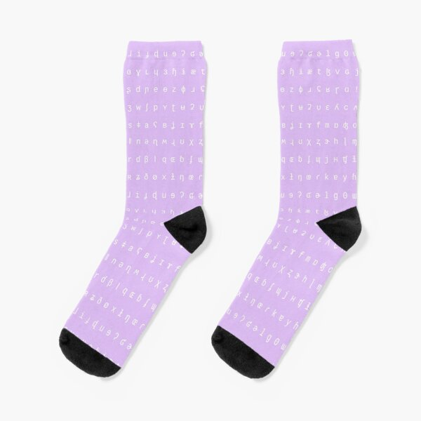 IPA socks - lilac and white Socks