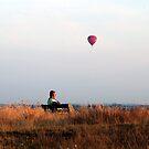 Man and balloon by Jonathan Gazeley