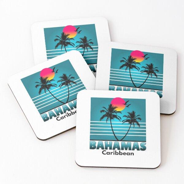 Bahamas Nassau Caribbean Summer Beach Souvenir tshirt Coasters (Set of 4)