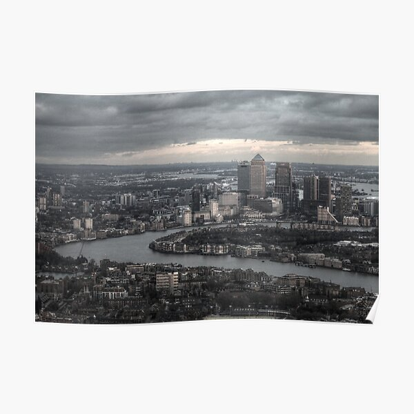 Canary Wharf, London Poster