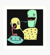 Creatures licking and poking things Art Print