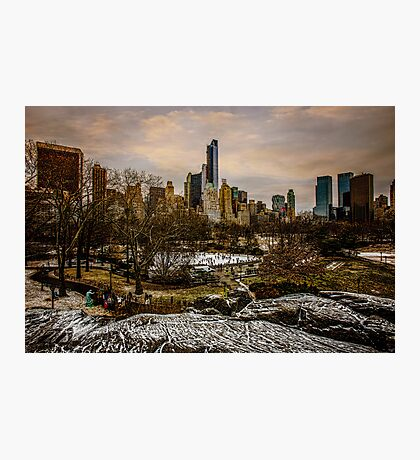 January, Central Park South Photographic Print