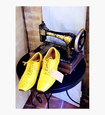 Yellow Shoes Photographic Print
