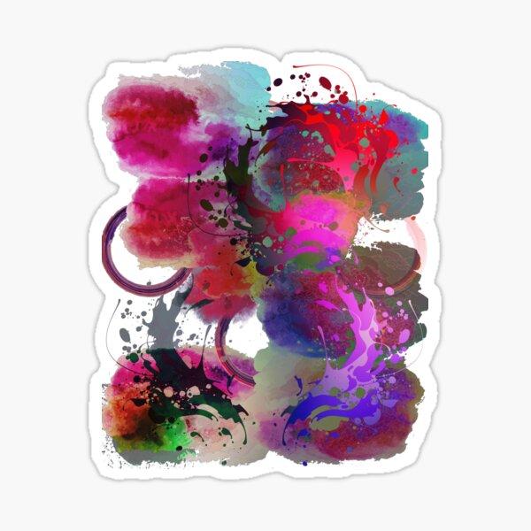 Abstract Art Design- Hot Mess Sticker