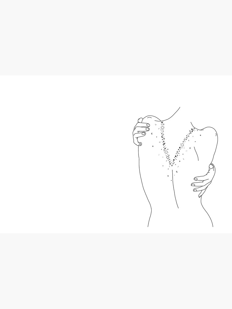 Nude back line drawing - Sofia by TheColourStudy