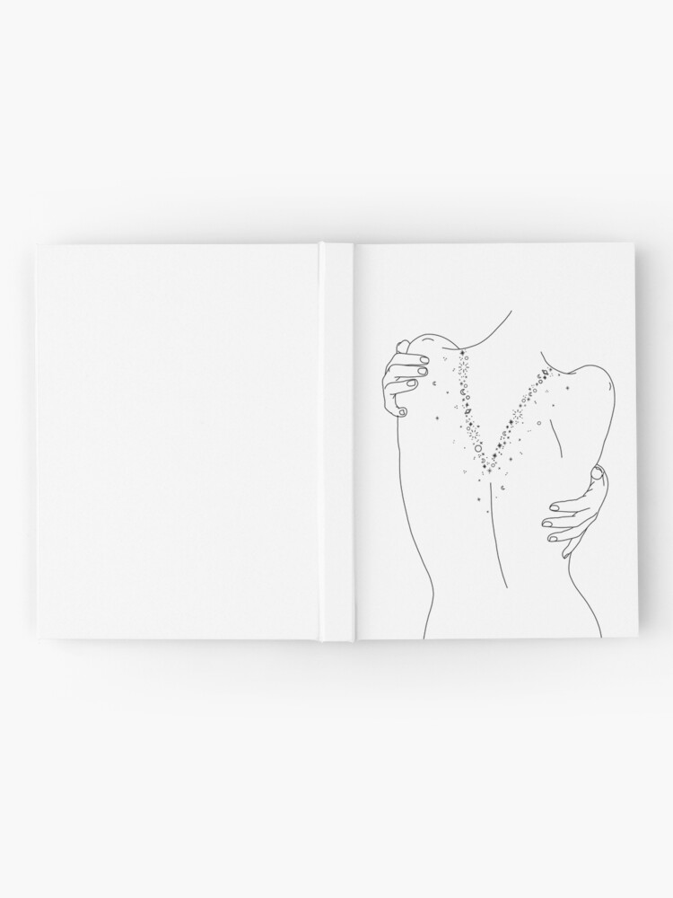Alternate view of Nude back line drawing - Sofia Hardcover Journal