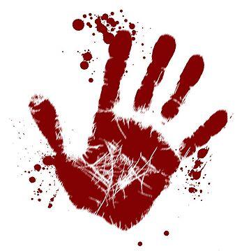 zombie handprint by chipper96