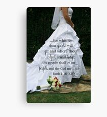 Vows Canvas Print