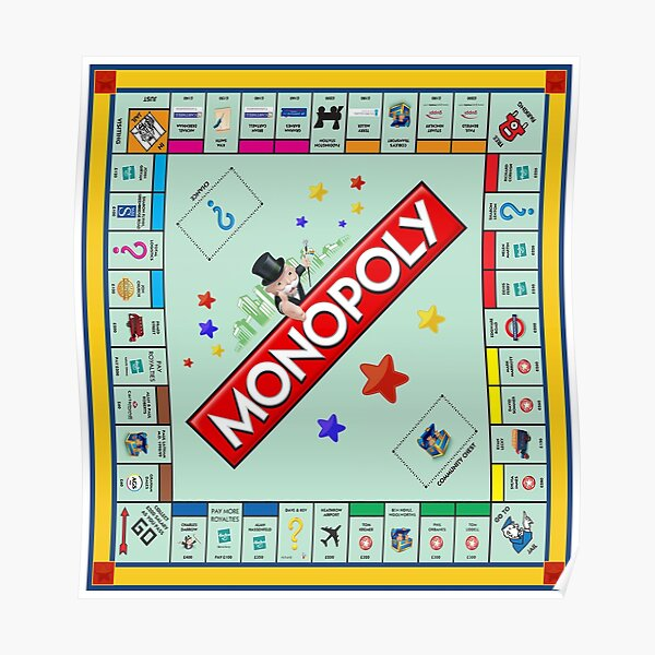 Monopoly Board Game Poster