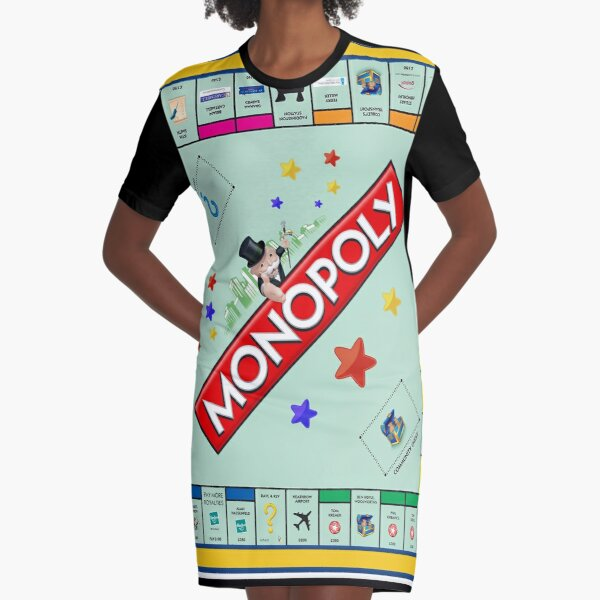 Monopoly Board Game Graphic T-Shirt Dress