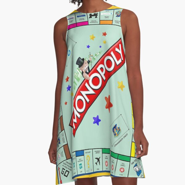 Monopoly Board Game A-Line Dress