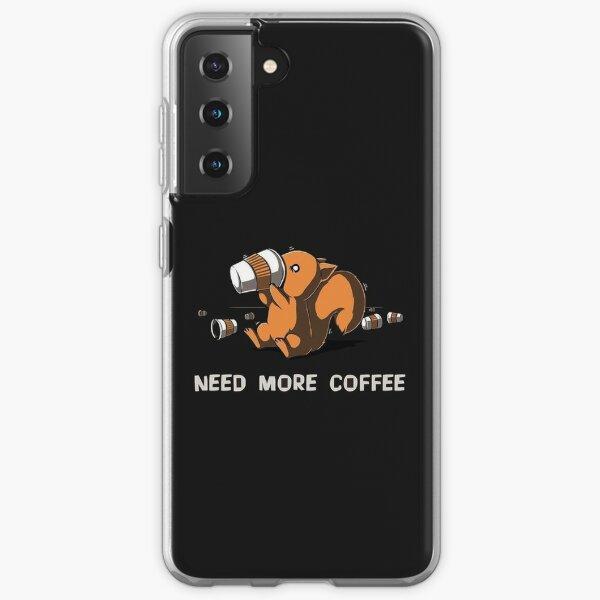 Coffee Addict Squirrel. Samsung Galaxy Soft Case