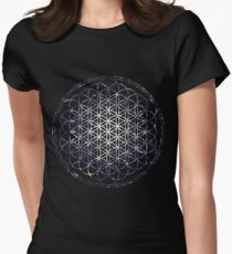 Flower Of Life - Sacred Geometry Star Cluster Women's Fitted T-Shirt