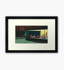 Nighthawks Last Supper Framed Print