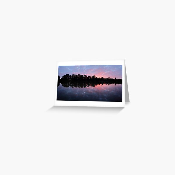 Murray River Sunrise.   Greeting Card