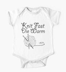Knit Fast, Die Warm One Piece - Short Sleeve