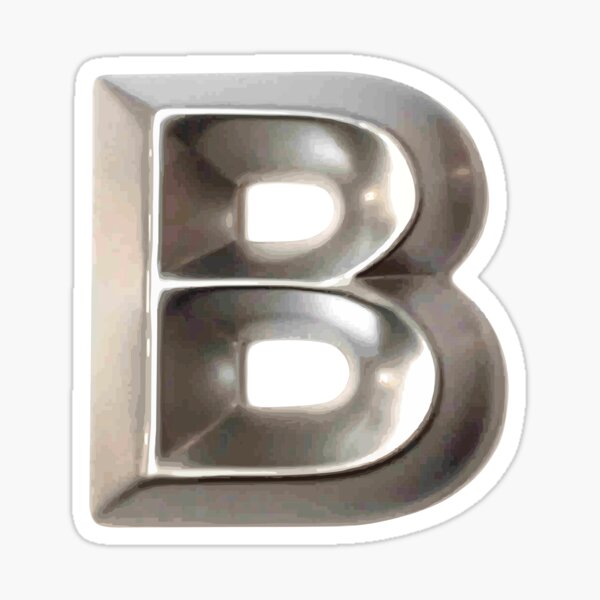 Letter B Designed For Stickers Sticker
