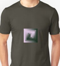 The Half-Sized Pink & Green Square Swirl Unisex T-Shirt
