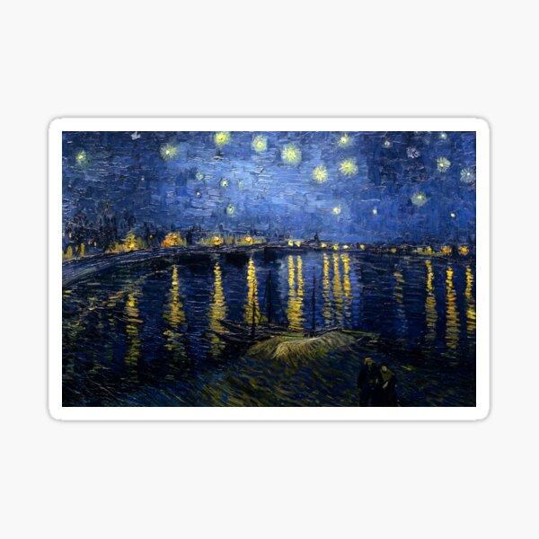 Starry Night Over the Rhone - Van Gogh Sticker