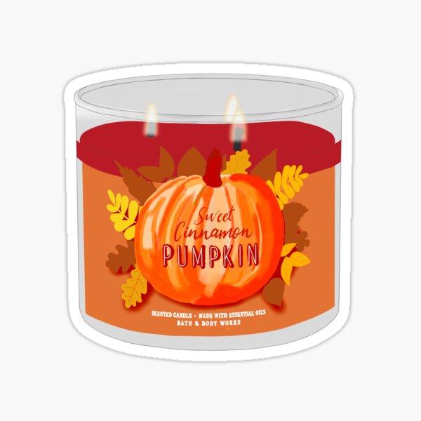 pumpkin candle Sticker