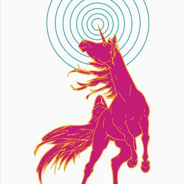Unicorns Rule (pink) by Sydneyjstevens