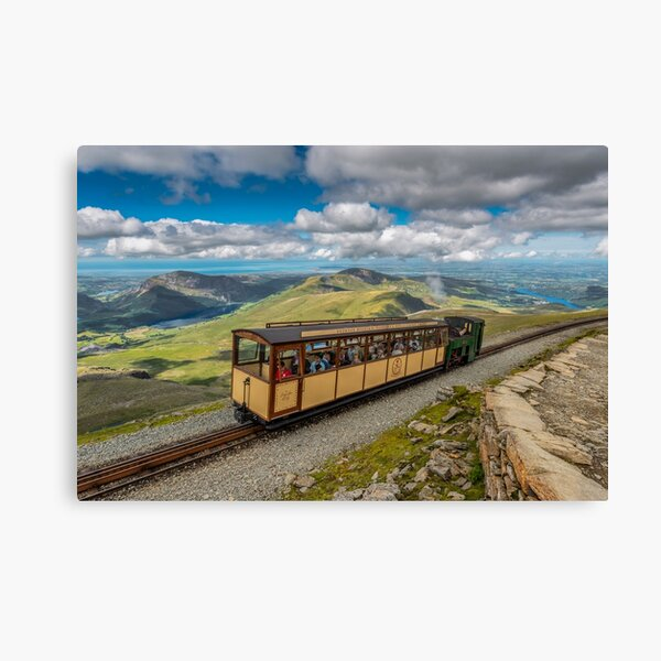 Mountain Train Snowdon Summit Wales Canvas Print