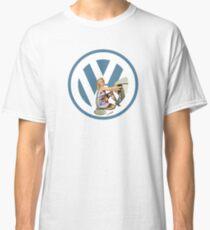 Volkswagen Pin-Up Damsel in Distress (blue) Classic T-Shirt