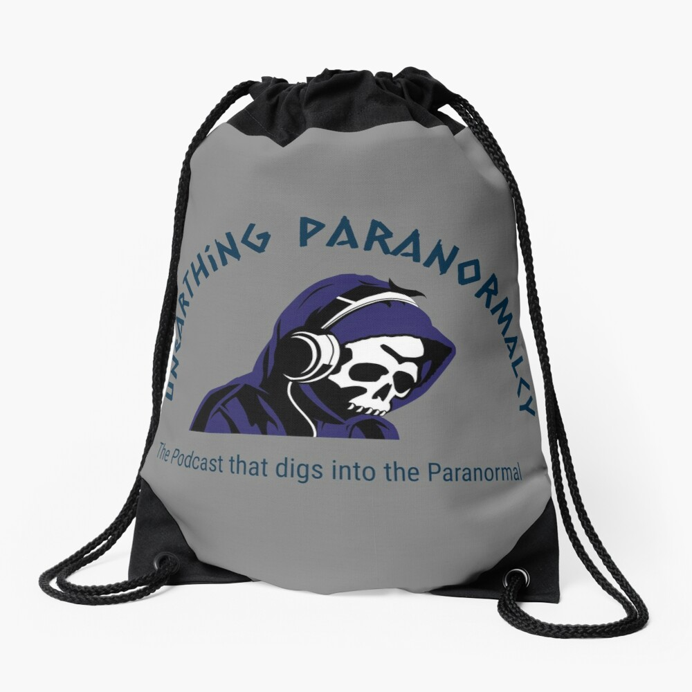 Podcast Merchandise for Unearthing Paranormalcy Drawstring Bag