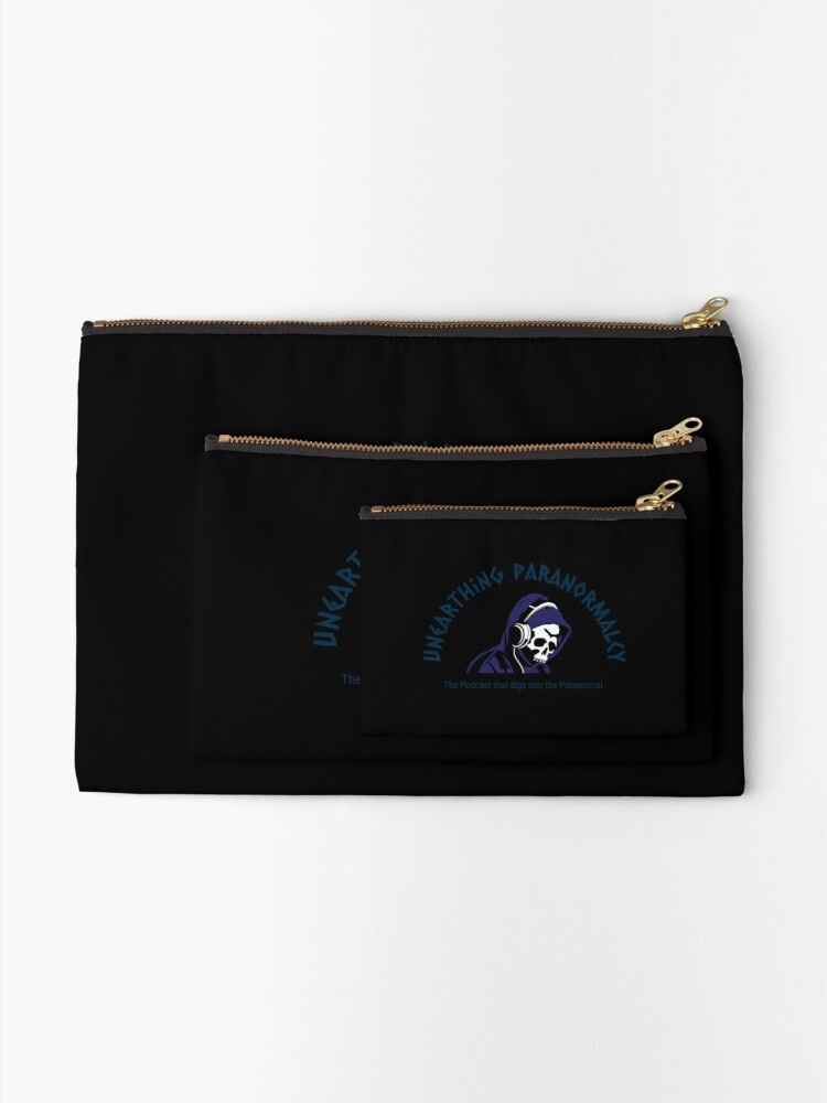 Alternate view of Podcast Merchandise for Unearthing Paranormalcy Zipper Pouch