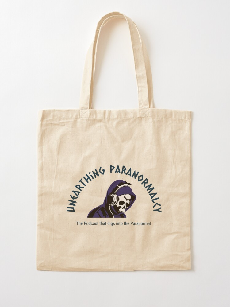 Alternate view of Podcast Merchandise for Unearthing Paranormalcy Tote Bag