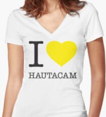 I ♥ HAUTACAM Women's Fitted V-Neck T-Shirt