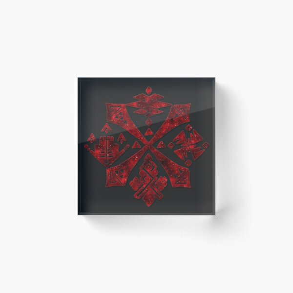 Monster Hunter - Hunter's Guild Emblem (Galaxy Design) Acrylic Block