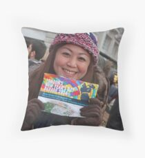 New Year's Day Parade  London 2014 Throw Pillow